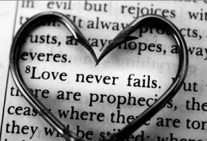 Love Never Fails, valentine