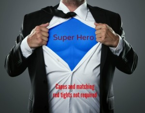 super hero, Capes and matching red tights not required