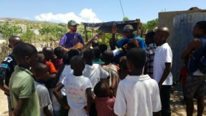 Bible study in Haiti