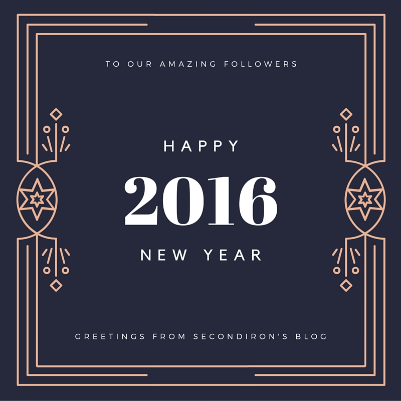 Happy 2016 New Year from SecondIron's Blog