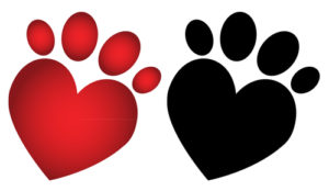 Pitter patter paw prints of the heart
